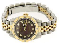 Rolex 26mm Datejust 2 Tone Ladies Watch