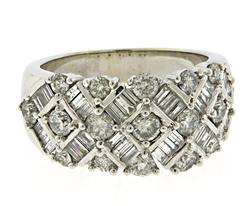 Stunning RBC & Baguette Diamond Band