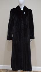 Extremely Fine Quality Natural Black Glama Mink Coat