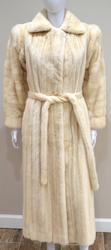 Revillion Full Length White Mink Coat