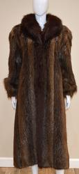 Beaver/Fox Full Length Brown Fur Coat