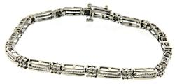Pretty 1ctw Diamond Station White Gold Bracelet