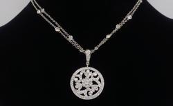 Designer Penny Preville Diamond Pendant Necklace