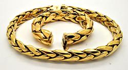 TIFFANY AND CO. 18K YELLOW GOLD HEAVY WHEAT NECKLACE