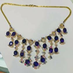 Amazing 18kt Gold & 150+ Carat Sapphire Necklace!!