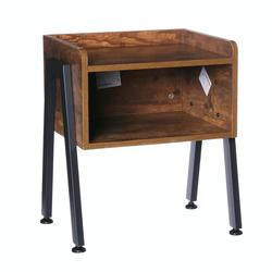 Wooden Table Cabinet Side Table Metal Frame