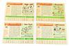 4 Topps 1955 Baseball Cards