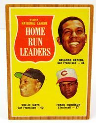 1961 Home Run Leaders, National League Baseball Card