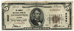 1929 Series $5 National of Jacksonville, FL (9049)