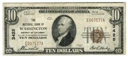 Nicer 1929 Series $10 National of Washington, DC (3425)