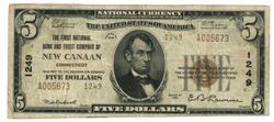Series of 1929 $5 National of New Cannan, CT (1249)