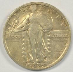 Key date 1927-S Standing Liberty Quarter in VF