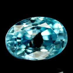 3.42ct high fire diamond luster blue Zircon