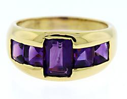 Gorgeous 18kt Amethyst Ring