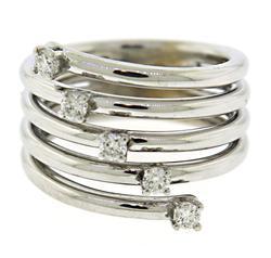 Shinning 18kt Diamond Multi Row Ring