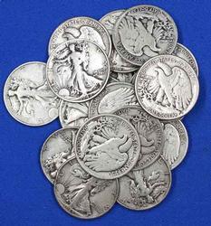 20 Assorted Walking Liberty Silver Half Dollars