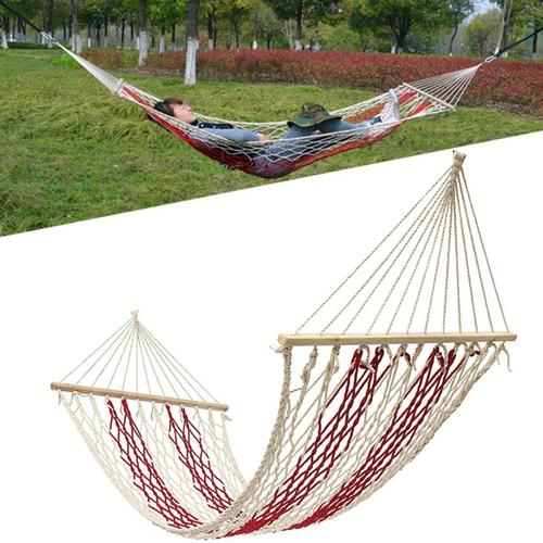 190x80cm Outdoor Camping Hammock Cotton Rope Swing