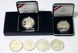 6 Modern Silver Dollar Commemerotives