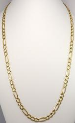 14KT Yellow Gold Heavy Figaro Chain