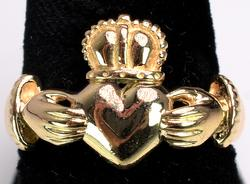 14KT Yellow Gold Claddagh Ring