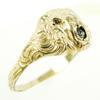 Antique Gold-Filled Lion Ring, Size 8.25
