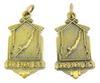 2 Vintage Girls Swim Team Medals