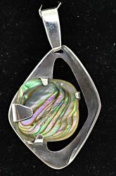Barbara Jean Abalone Shell Sterling Silver Pendant