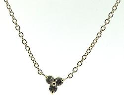 Sterling Silver Cluster Cubic Zirconia Necklace