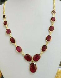 14kt Yellow Gold Ruby Necklace