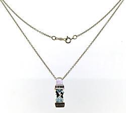 Fabulous Oval Aquamarine and Diamond Necklace
