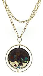 Vintage E Zuni Jake sterling Silver Necklace
