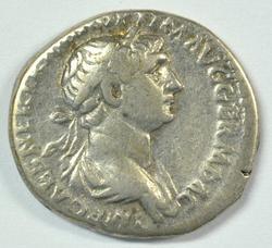 Scarce Emperor Trajan Roman Silver Denarius, 98-117 AD