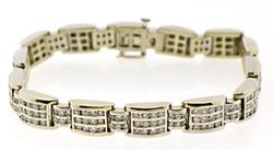 Shimmering 7.60ctw Gents Diamond Channel Set Bracelet