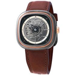 New Mens Sevenfriday Automatic w/ Brown Leather Strap
