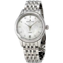 New Womens Maurice LaCroix Swiss, Sapphire, Clear Back