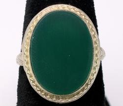 18KT Green Stone Ring
