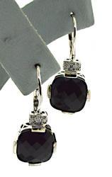 Beautiful White Gold Diamond and Black Onyx Earrings