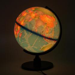 World Earth Globe Atlas Map w/ Rotating Stand LED light