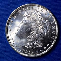 1921 Morgan Silver Dollar UNC