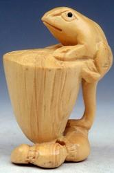 Hand Carved Japanese Boxwood Sculpture