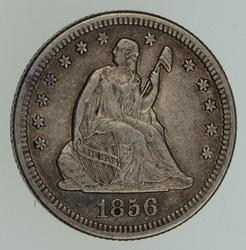 1856-O Seated Liberty Quarter - Circulated