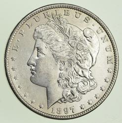 1897-O Morgan Silver Dollar - Choice