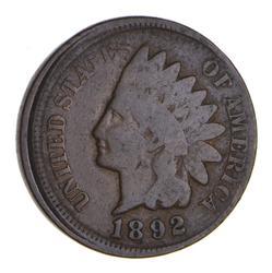 1892 Indian Head Cent - Circulated - Mint Error: Off Center
