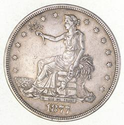 1877 Seated Liberty Silver Trade Dollar