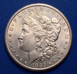 1883 CC Frosty White Unc Morgan From A Near Full Set of Morgans