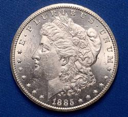 Frosty White BU 1885 CC From A Near Full Set of Morgans