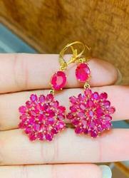 Beautiful 14kt Gold & Ruby Earrings