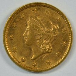 Super choice 1853 US Type One $1 Gold Piece