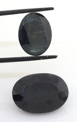 Beautiful Pair of Oval-Mixed-Cut Sapphires, 25.06CTW