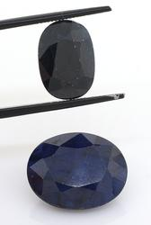 Pair of Lovely Oval-Mixed-Cut Sapphires, 25.24CTW
